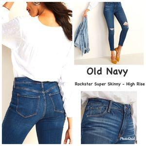 Old Navy High Rise Rockstar Super Skinny Jeans